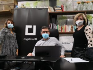 Our Event team! Riccardo Tudino, Giulia Ruffatto (Marketing Specialist) and Elisabeth Console (Supply Chain Specialist)