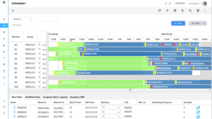 Detailed production scheduler